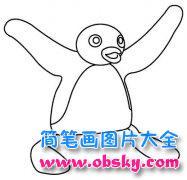 手绘企鹅简笔画图片