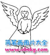 儿童人物简笔画图片:天使