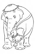 儿童简笔画:大象与小象