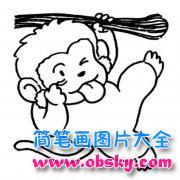 超萌小猴子简笔画图片